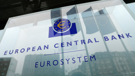Le logo de la Banque centrale européenne (BCE).