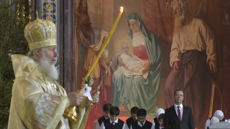 La traditionnelle messe de la Nativité à Moscou et Novgorod