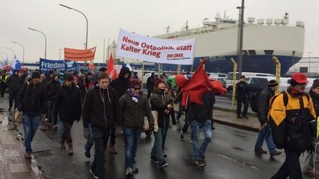 Manifestation à Bremerhaven le 7 janvier contre le déploiement d'unités supplémentaires de l'OTAN en Europe orientale