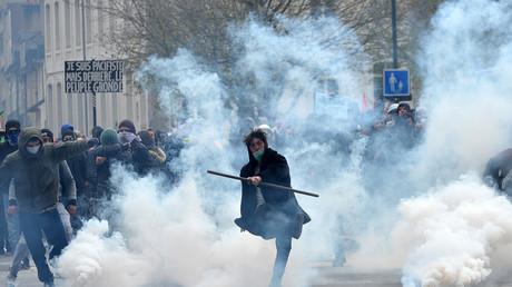 Manifestation contre la Loi Travail à Rennes en mars 2016
