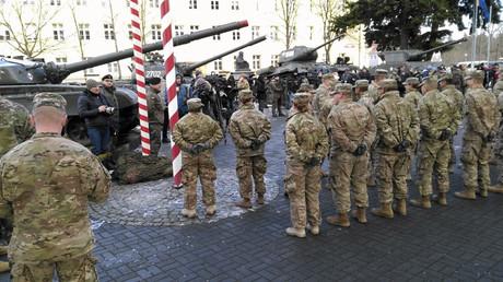Soldats américains en Pologne, le 12 janvier 2014
