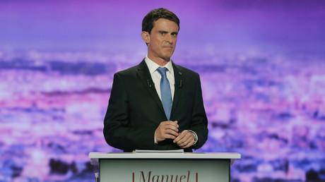 Manuel Valls lors du premier débat de la primaire de la Belle Alliance.
