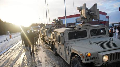 Des soldats américains arrivent en Pologne, janvier 2017.