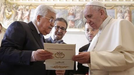L'ambassade de Palestine inaugurée au Vatican, après une rencontre entre Abbas et le pape (PHOTOS)