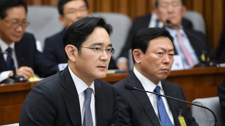 Lee Jae-Yong, lors de l'enquête parlementaire le 6 décembre sur le scandale de corruption