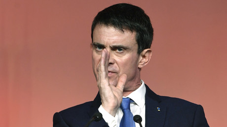 Manuel Valls en meeting.