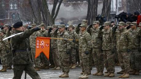 Les forces de l'OTAN en Pologne, janvier 2017