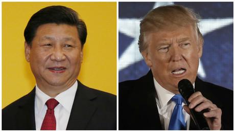 Xi-Jinping et Donald Trump.
