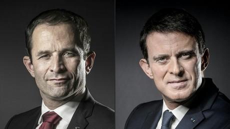 Benoît Hamon et Manuel Valls