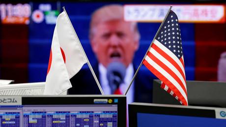 Donald Trump prononce son discours d'investiture.