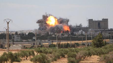 Une frappe aérienne en Syrie (archive)