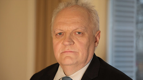 François Asselineau, fondateur de l'Union populaire républicaine (UPR), candidat à l'élection présidentielle, photo RT France