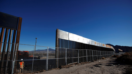 Une partie du mur en construction entre les Etats-Unis et le Mexique