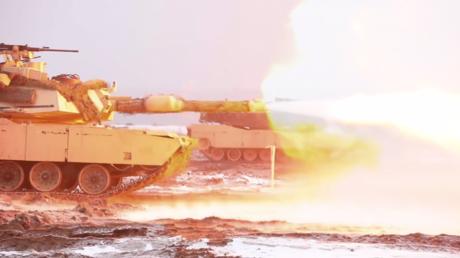 Des chars M1 Abrams près de Zagan