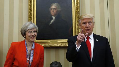 Le premier-ministre britannique Theresa May et le président américain Donald Trump