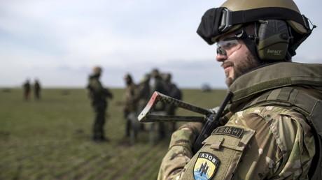 Un milicien du bataillon Azov