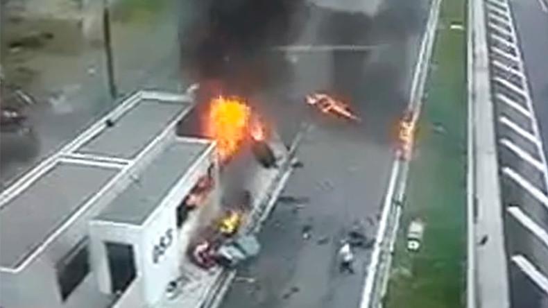 Rt 22 Honda >> La Porsche d'un fils de millionnaire grec fonce dans un parking : quatre morts (VIDEO CHOC) — RT ...