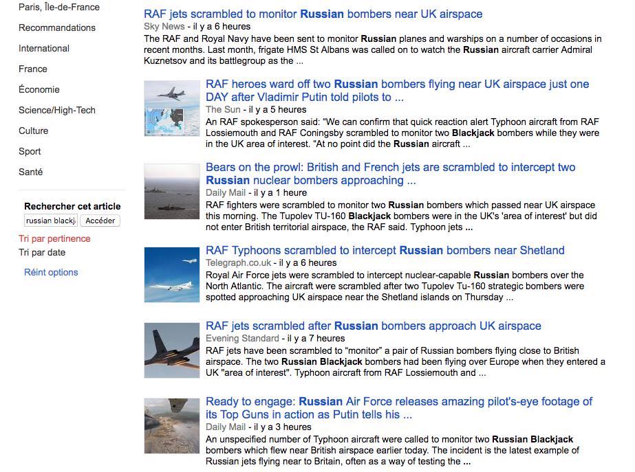 Deux bombardiers russes créent la panique dans le ciel européen