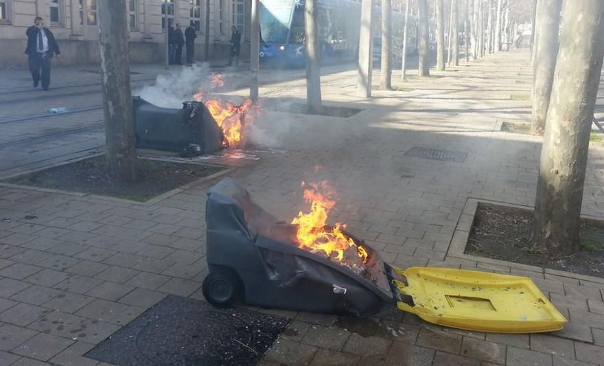 Affaire Théo : une mobilisation de lycéens dégénère à Montpellier (IMAGES)