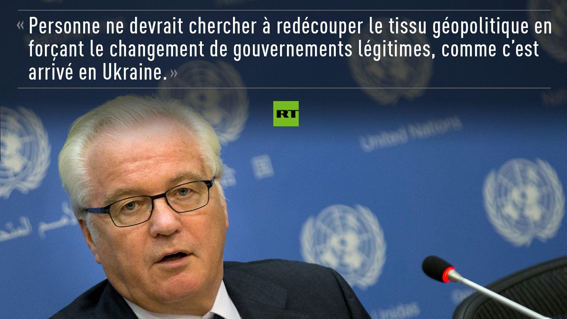 «Toujours à la recherche d'armes irakiennes ?» Les meilleures répliques de Vitali Tchourkine à l'ONU