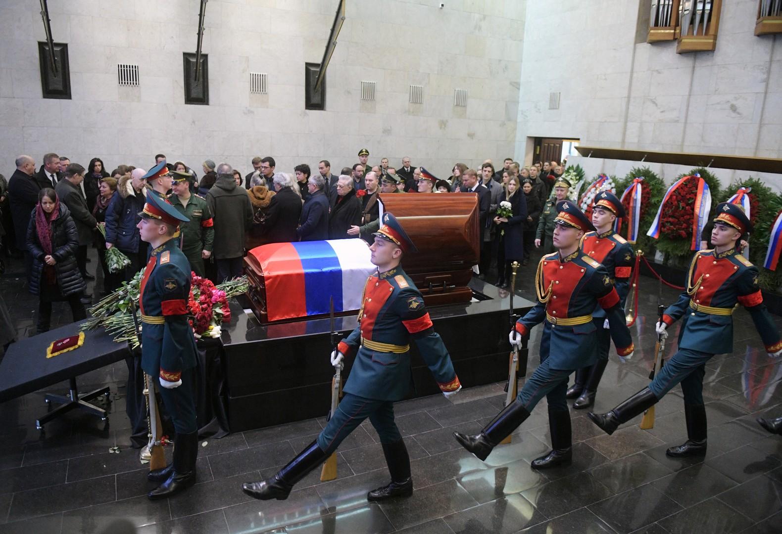 Cérémonie funèbre de Vitali Tchourkine : «Nous devons tout faire pour perpétuer sa mémoire»