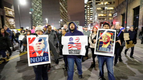 Manifestations contre le décret exécutif de Donald Trump, Minneapolis, Etats-Unis,