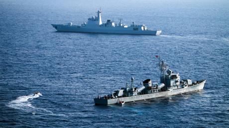 Des navires de la flotte militaire chinoise en mer de Chine méridionale (photographie d'illustration)