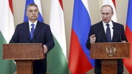 Viktor Orban et Vladimir Poutine à Moscou en 2016