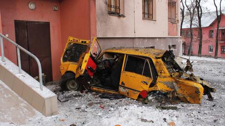 Destructions à Donetsk après l'offensive de Kiev