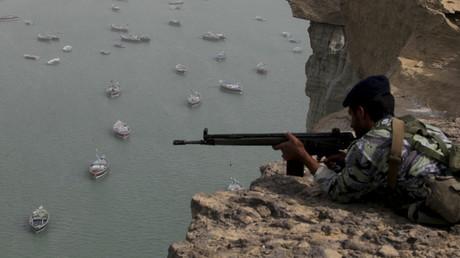 Soldat iranien dans le sud de l'Iran, décémbre 2011.
