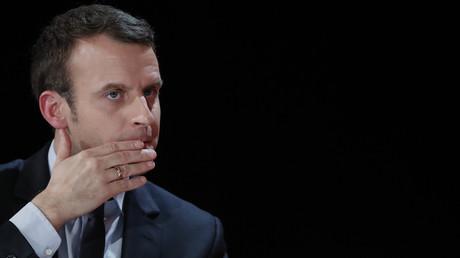 Le candidat à la présidence française Emmanuel Macron