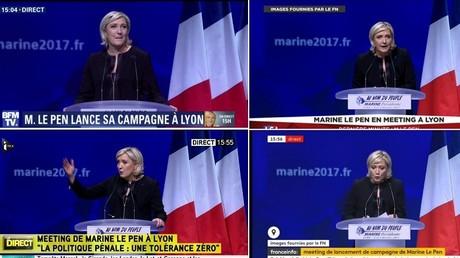 Entre les meetings de Marine Le Pen et de Jean-Luc Mélenchon, les médias ont fait leur choix