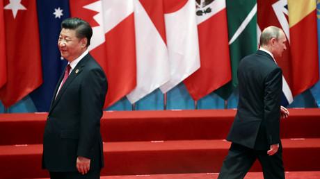 Xi-Jinping et Vladimir Potine lors du sommet de G20 à Hangzhou en septembre 2016