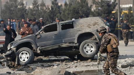 Destructions après une explosion à Kaboul le 28 décembre 2016