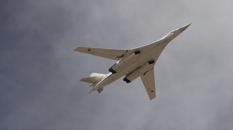 Un bombardier stratégique russe Tu-160 Blackjack