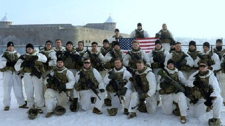 Une photo laissant présager un exercice militaire américain à quelques pas de la frontière russe, en Estonie, est apparue sur Twitter