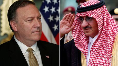 Le directeur de la CIA, Mike Pompeo, et le prince saoudien Mohammed ben Nayef Al Saoud