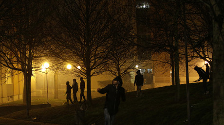 Des émeutiers à Bobigny, le soir du 11 février (photographie d'illustration)