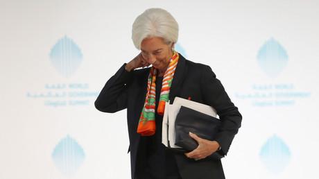 Christine Lagarde au sommet du gouvernement mondial le 13 février