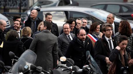 Le président de la République était en déplacement à Aubervilliers le 14 février