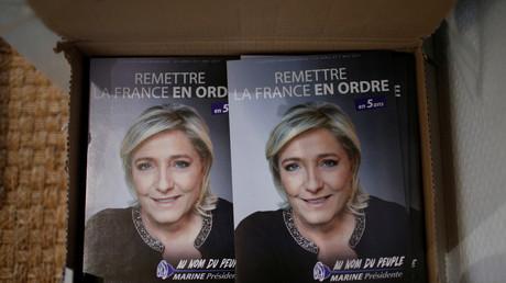Un bureau de National Front à Luce à coté de Chartres