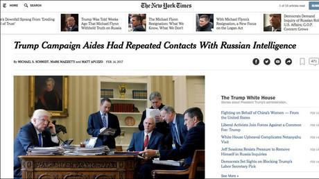 Capture d'écran, nytimes.com