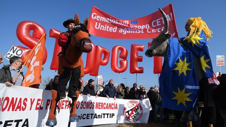 Manifestations contre le CETA, Strasbourg, France.