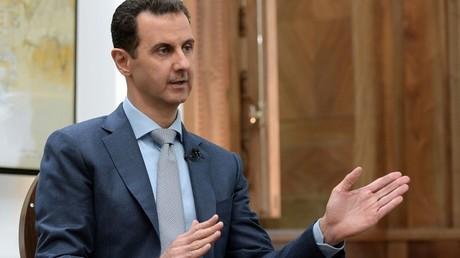 Bachar el-Assad dans une interview à Yahoo News le 10 février