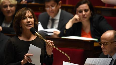 Laurence Rossignol (PS) a défendu au parlement le projet de loi sur le délit d'entrave à l'IVG sur internet