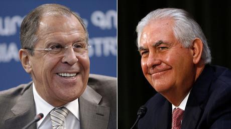 Ministre des Affaires étrangères russe Sergueï Lavrov et Sécretaire du départemnt d'Etat Rex Tillerson