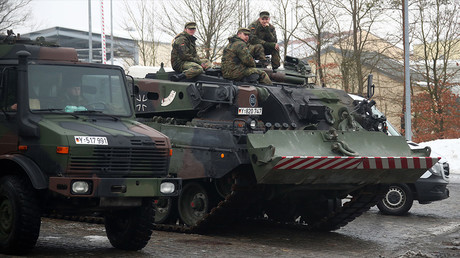 L'armée allemande participe au déploiement de l'OTAN en Lituanie en janvier 2017, photo ©REUTERS/Michael Dalder