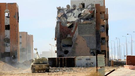 Ruines dans la ville libyenne de Syrte, octobre 2016