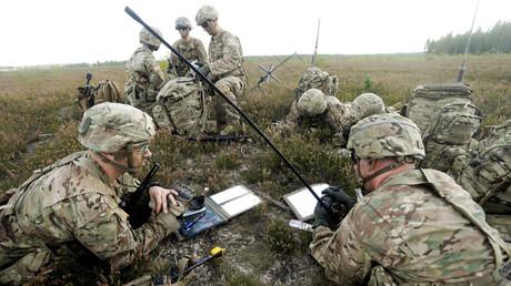 Les soldats de l'OTAN lors des exercises militaires en Lettonie
