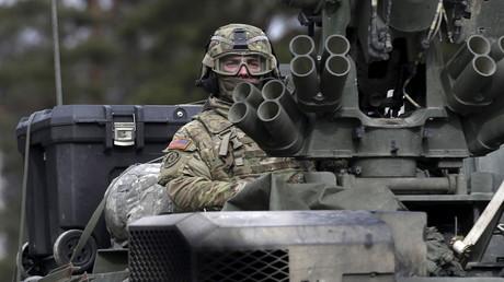 Un soldat américain lors du déploiement des troupes de l'OTAN en Estonie